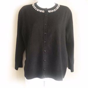 Embellished Black Cardigan NWT